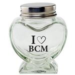 Custom Glass Heart Jar - Empty