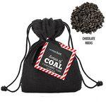 Custom Santa's Bag of Coal w/ Chocolate Rocks