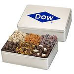 Custom 6 Way Deluxe Gift Tin - Savory Treat Sensation