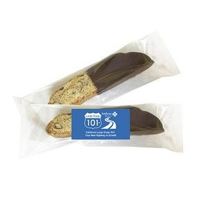 Individually Wrapped Biscotti - Chocolate Dipped Vanilla Almond