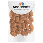 Custom Raw Almonds in Small Round Top Header Bag
