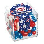 Custom Commemorative Candy Box w/ Patriotic Gourmet Jelly Beans