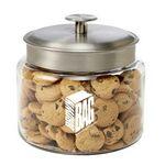 Custom Glass Cookie Jar - Mini Chocolate Chip Cookies (64 Oz.)