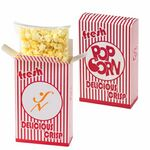 Custom Striped Popcorn Box - Butter Popcorn