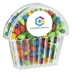 Cupcake Container - Chocolate Covered Sunflower Seeds- Gemmies