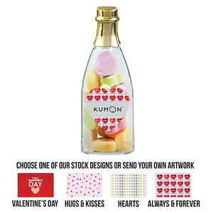 Cheers to You Champagne Bottle - Conversation Hearts