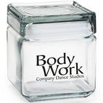 Custom Square Glass Jar - Empty (32 Oz.)