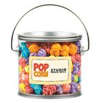 Custom Large Paint Cans w/ Corporate Color Popcorn