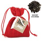 Custom Santa's Bag of Coal w/ Black Sweet Kettle Popcorn