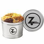 Custom 6 Way Snack Tins - Popcorn, Pretzels, & Party Mix (2 Gallon)