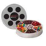 Custom Large Film Reel Tin - 7 Way Candy Tin
