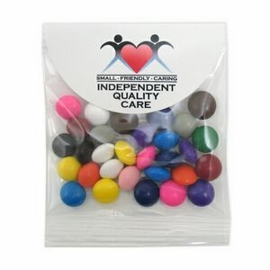 Chocolate Buttons in Small Round Top Header Bag