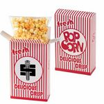 Custom Striped Popcorn Box - Cheddar Popcorn