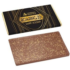 Foil Wrapped One Pound Belgian Chocolate Bar w/ 23K Gold Flakes