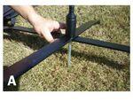 Custom Metal Cross Bar Base w/Ground Stake and Rotating Ball Bearing Stem
