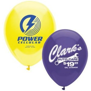 "9"" AdRite Crystal/ Fun Color Economy Line Latex Balloon"