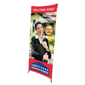 2 ft. W x 5.25 ft. H X-Banner Stand Kit