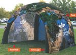 Custom 18 ft x 18 ft (11 ft H) Inflatable Tent - Full Bleed with 1 Printed Wall