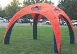 Custom 18 ft x 18 ft (11 ft H) Inflatable Tent - 1-color print (4 peaks, same print)