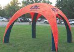 Custom 15 ft x 15 ft (10 ft H) Inflatable Tent - 1 Color Print (4 peaks, same imprint)