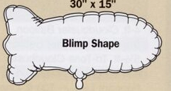 Blimp Special Shape Microfoil Balloon