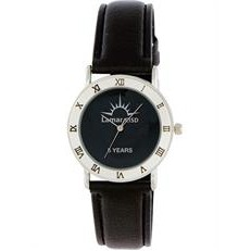 ABelle Promotional Time Columbia Ladies' Silver Watch w/ Leather Strap