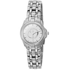 Selco Geneve Ladies' Silver Passport Medallion Watch