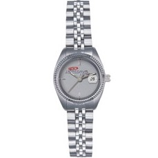 Selco Geneve Lady Commander Medallion Silver Watch