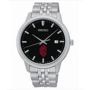 Men's Seiko Prime Quartz Black Dial Stainless Steel Watch