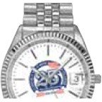 Selco Geneve Silver Lady Commander Watch