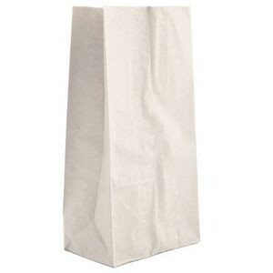 "White Kraft SOS 4 LB Grocery Bag (5"" x 3 1/8"" x 10"")"