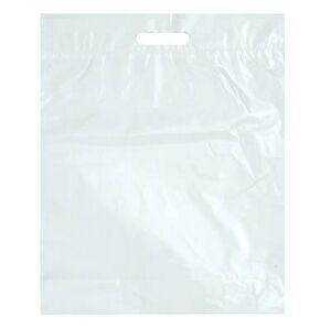 Stock Plastic Fold Over Die Cut Handle Bag (12 x 15)