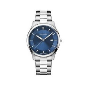 City Classic 43 Mm Blue Dial Watch