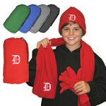 Custom Embroidered Fleece Gift Set
