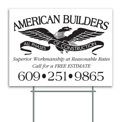 "Corrugated Plastic Sign (18""x24"")"