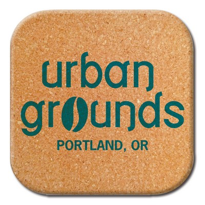 "4"" Natural Cork Coaster (Made in the USA)"