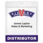 Custom Top Loading Double Pocket I.D. Card Holder