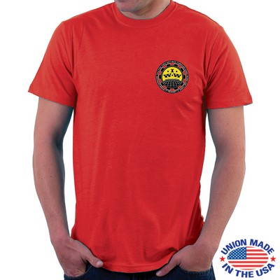 "U.S.A. Made Full Color Digitally Printed T-Shirt (5"" x 5"") Image"