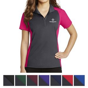 Sport-Tek® Ladies' Colorblock Micropiqué Sport-Wick® Polo