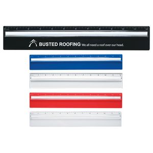 Plastic 12 Ruler With Magnifying Glass
