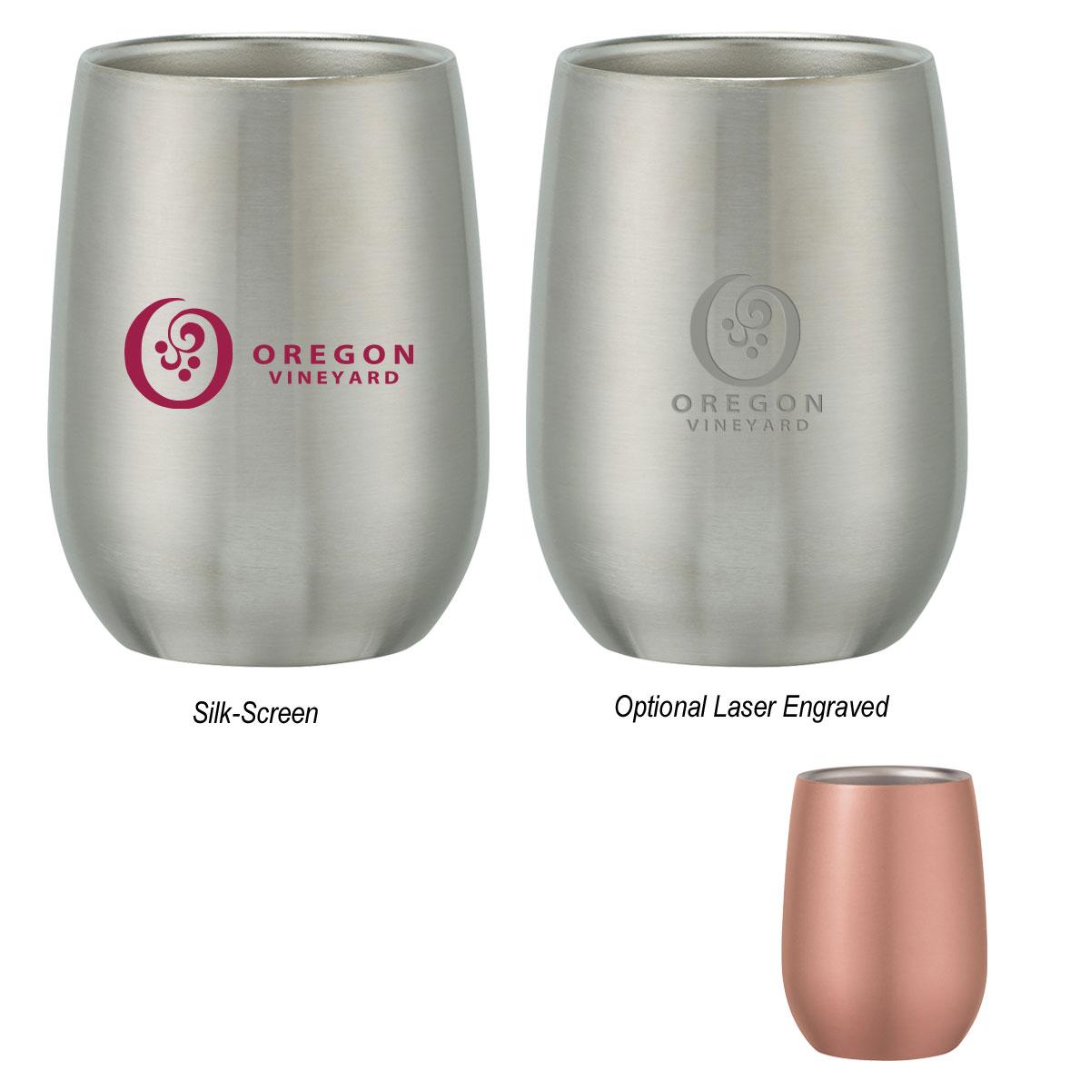 9 Oz. Stainless Steel Stemless Wine Glass