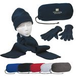Custom Keep Warm Buddy Set w/ Scarf, Gloves & Cap