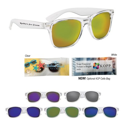 Crystalline Mirrored Malibu Sunglasses