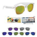Custom Crystalline Mirrored Malibu Sunglasses