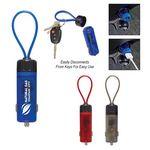 Custom Luminous USB Car Charger Key Strap