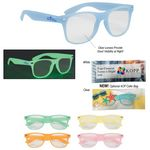 Custom Glow-In-The-Dark Frame Glasses With Clear Lenses