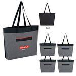 Custom Brighton Heathered Tote Bag