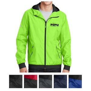Sport-Tek® Embossed Hooded Wind Jacket