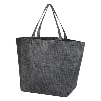 Crosshatch Non-Woven Shopper Tote Bag