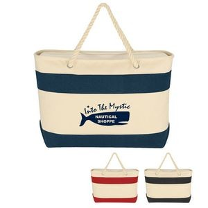 Large Cruising Tote Bag With Rope Handles